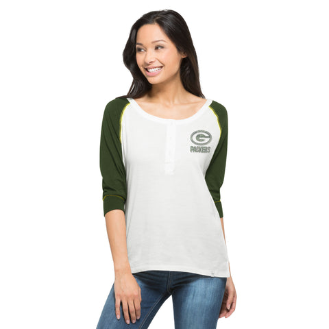green bay packers,glitz,henley shirt