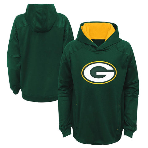 genuine,outerstuff,outer stuff,green bay packers,mach,hooded,sweatshirt,hoodie,hoody,tops,clothing accessories,outerwear