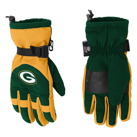 green bay packers,youth,gloves,nfl,boys