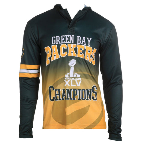 Football Super Bowl Champions Commemerative Poly Hoody Tee - Pick Team