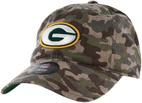 Green Bay Packers Camo Slouch Youth Adjustable Hat