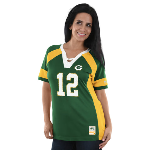 Green Bay Packers Aaron Rodgers Draft Him Women's Jersey Shirt