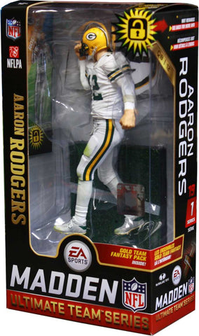 mcfarlane toys,green bay packers,aaron rodgers,madden,ultimate,team,series,1,action,toy,figure,collectible,figurine