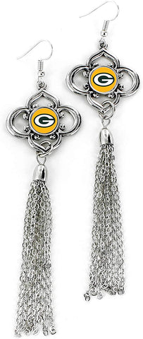 Green Bay Packers Charmed Tassel Earrings