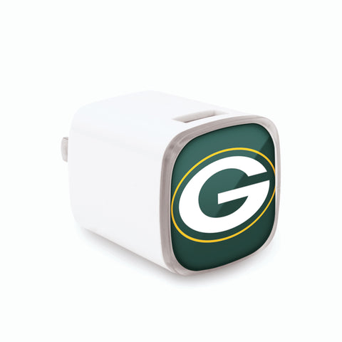 mizco,green bay packers,dual,usb,wall,charger,electronics