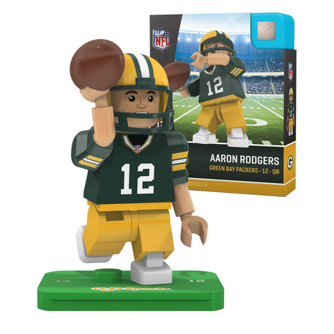 oyo,sports,green bay packers,aaron rodgers,action,toy,figure,mini-figure,minifigure,g4,generation,4,limited,edition