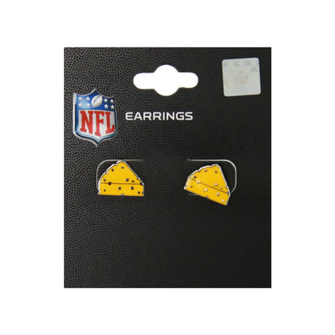 Green Bay Packers Cheese Metal Post Earrings