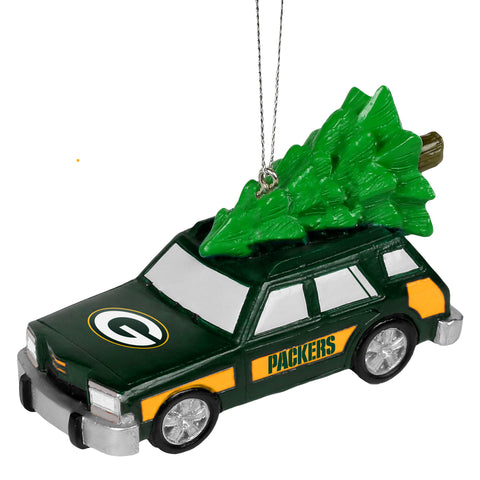 Green Bay Packers Station Wagon with Tree Ornament