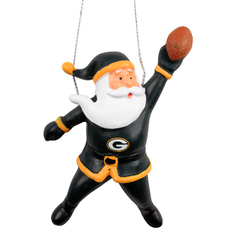green bay packers,action,santa,ornament