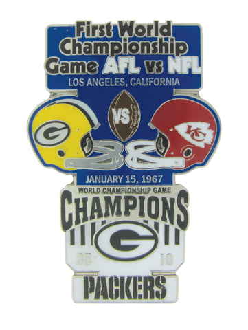 psg,pro,specialties,group,green bay packers,superbowl,super,bowl,i,1,historic,commemorative,lapel,pin,brooch,brooches,jewelry,clothing accessories