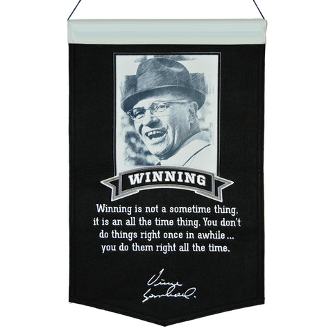winning,streak,sports,green bay packers,vince,lombardi,collection,winning,wall banner,hanging,décor,decoration,poster,print,drape