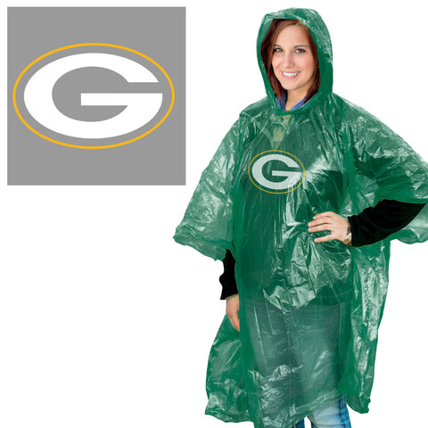 Green Bay Packers Rain Poncho