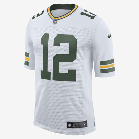 Green Bay Packers Aaron Rodgers #12 Elite Away Jersey