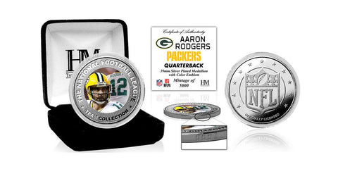 Green Bay Packers Aaron Rodgers Silver Color Coin