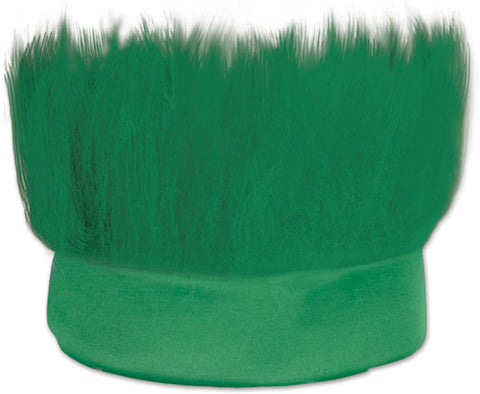 Hairy Wig Headband, One Size, Green