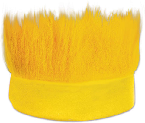 Hairy Wig Headband, One Size, Yellow