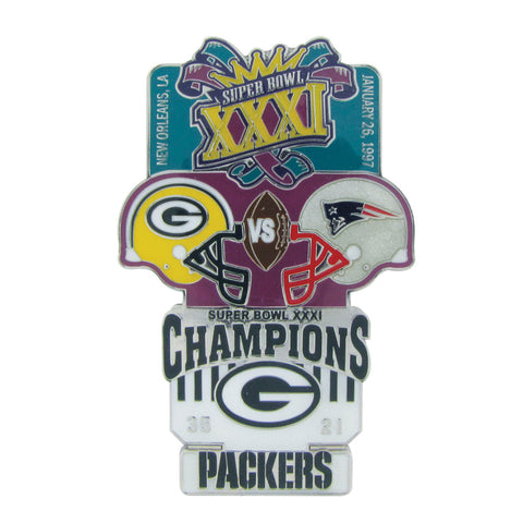 Packers Super Bowl XXXI Oversized Commemorative Pin, 3""