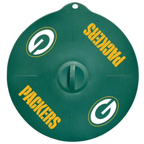 "Green Bay Packers 9"" Silicone Lid"