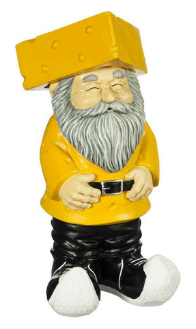Green Bay Original Cheesehead Sculpted Garden Gnome