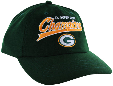 Green Bay Packers 4x Super Bowl Champions Strapback Hat