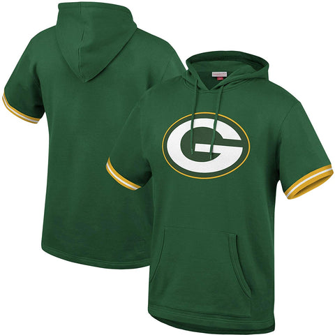 Green Bay Packers French Terry Short Sleeve Hoody
