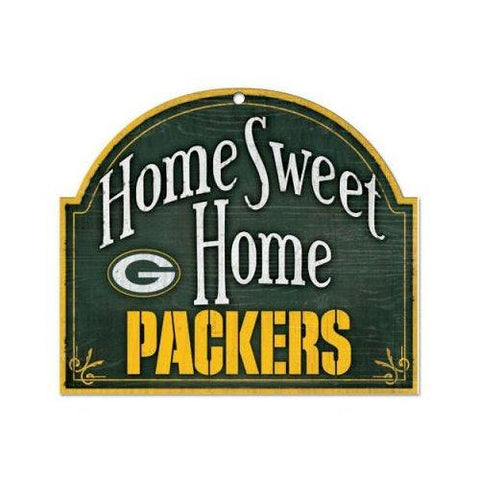 Green Bay Packers Home Sweet Home Arch Shaped Wooden Sign