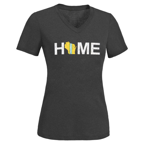 Green Bay Packers Home Women's Short Sleeve V-Neck Tee