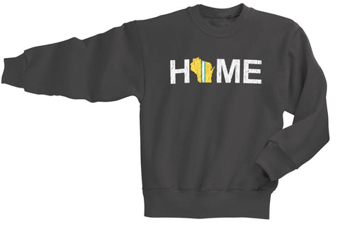 Green Bay Packers Home Youth Crewneck Sweatshirt