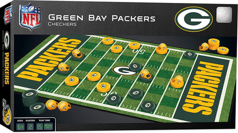 Green Bay Packers Checkers Game Set