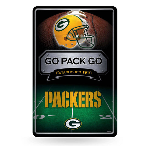"Green Bay Packers 11"" x 17"" Embossed Metal Sign"