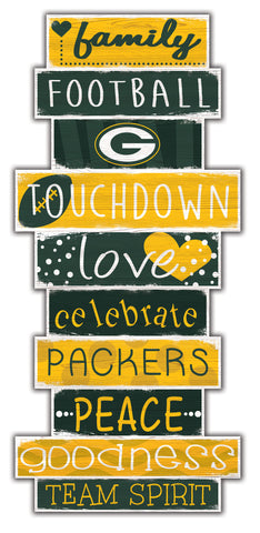 "Green Bay Packers Celebrations Stack 24"" Wood Sign"