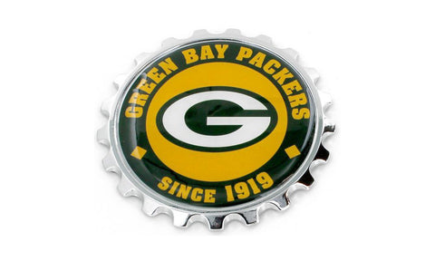 Green Bay Packers Stick-on Metal Emblem with Adhesive Backing