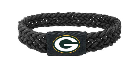 Green Bay Packers Black Stretch Bracelet