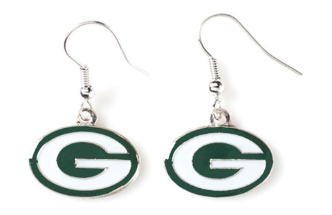 Green Bay Packers Logo Dangler Earrings