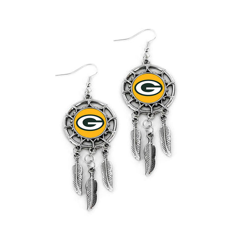 Green Bay Packers Dream Catcher Earrings