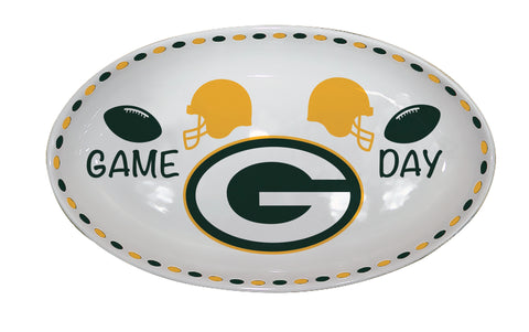 Green Bay Packers Game Day Oval Platter
