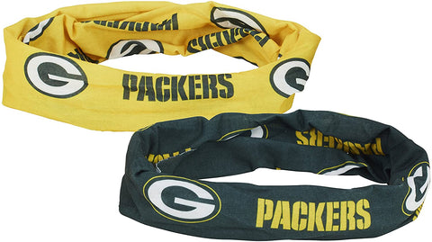 Green Bay Packers Fan Stretch Wrap, 2-Pack