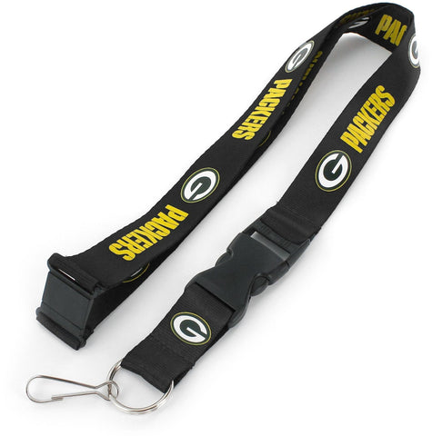 Green Bay Packers Team Lanyard, Black