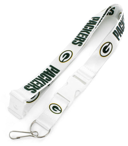 Green Bay Packers Team Lanyard, White