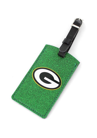 Green Bay Packers Sparkle Luggage Tag