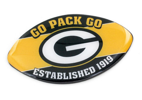 Green Bay Packers Slogan Football Magnet