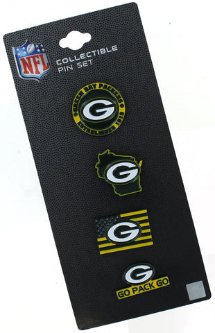 Green Bay Packers Team Pride Collectible Pin Set