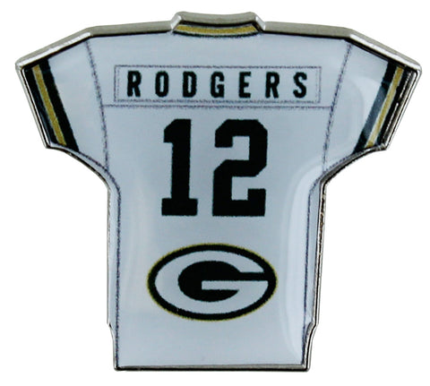 Green Bay Packers Aaron Rodgers Home Jersey Pin