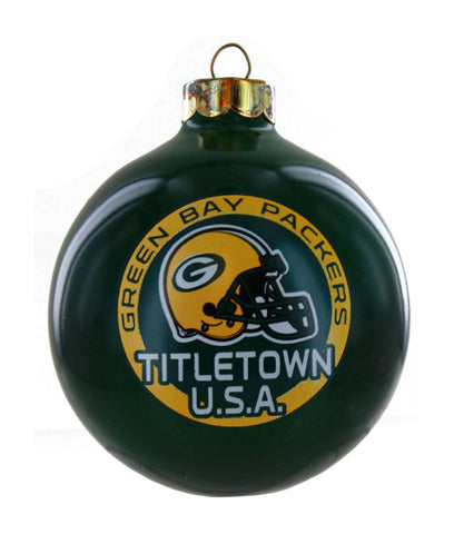 Green Bay Packers Titletown U.S.A 13-Time Champions Round Ornament