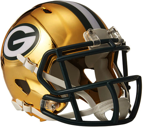 Green Bay Packers Chrome Alternate Speed Mini Helmet