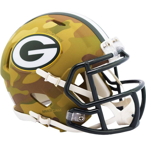 Green Bay Packers Riddell Camo Alternate Revolution Speed Mini Helmet