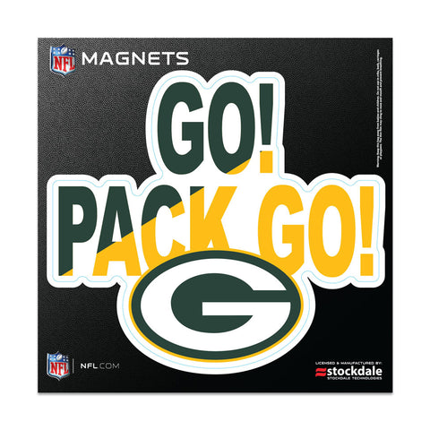"Green Bay Packers Slogan 6"" x 6"" Outdoor Magnets"