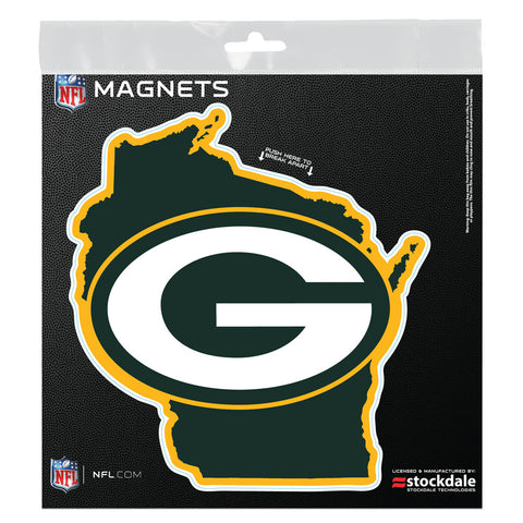 "Green Bay Packers State 6"" x 6"" Outdoor Magnet"