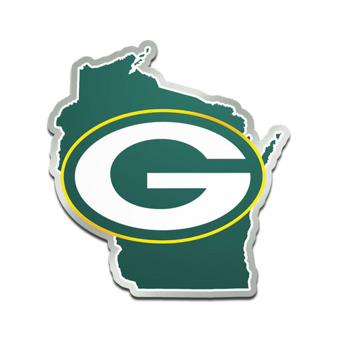 Green Bay Packers State Acrylic Auto Emblem
