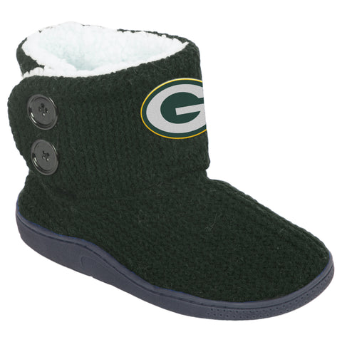 Green Bay Packers 2-Button Knit Boots, Green